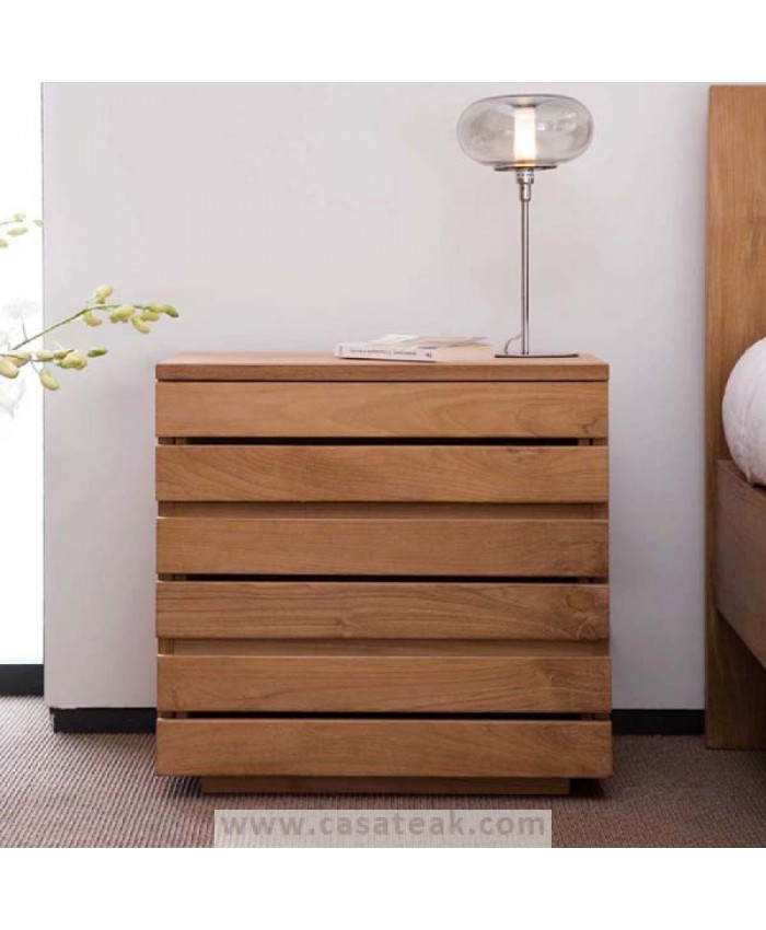 3 Draw Bedside Contemporary Style