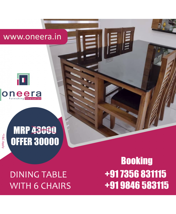 6 Seater Dining Table with Chairs