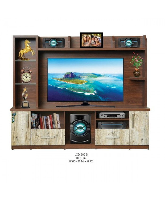 Tv Unit LCD 202 D With storage (2 Door & 2 Drawer)