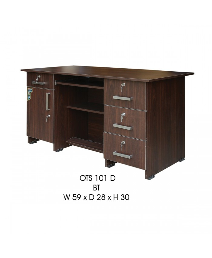 Office Table with 4 Drawer and 1 Door
