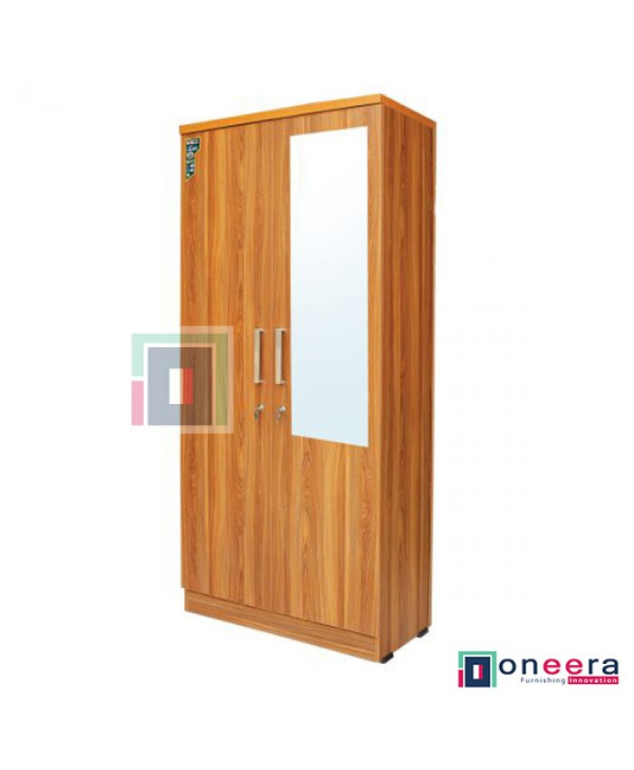 2 Door Wardrobe with mirror (Particle Board)