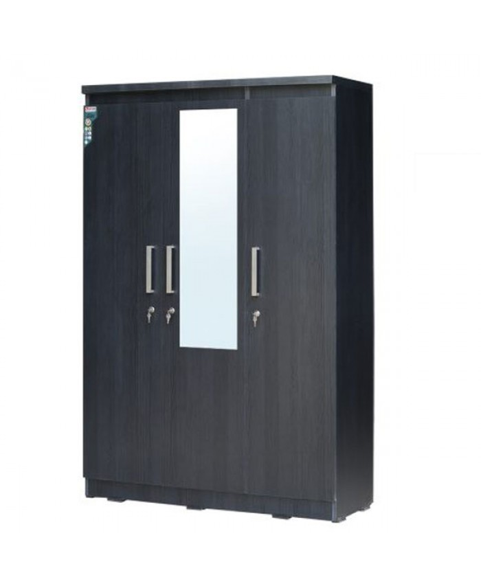 3 Door Wardrobe with mirror (Particle Board)