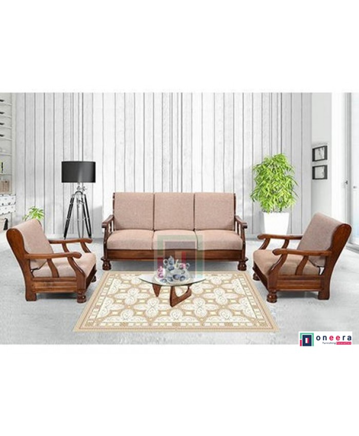 Dosth 3+1+1 Wooden Sofa Set