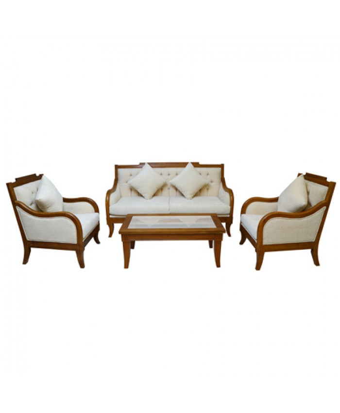 Wooden Sofa set with Coffee Table