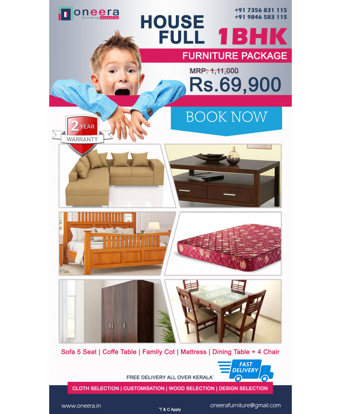 1 BHK full home furniture package BEST PRICE