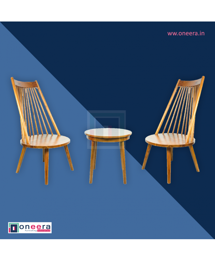 Coffee Set. Stool with Chairs Indonasian Teak Wood